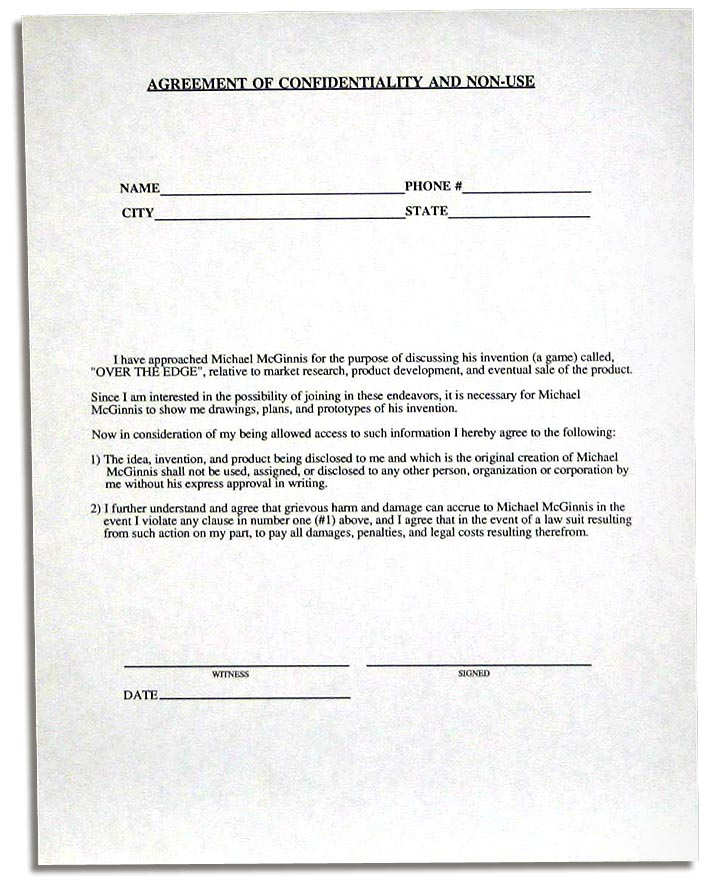 non disclosure agreement texas pdf